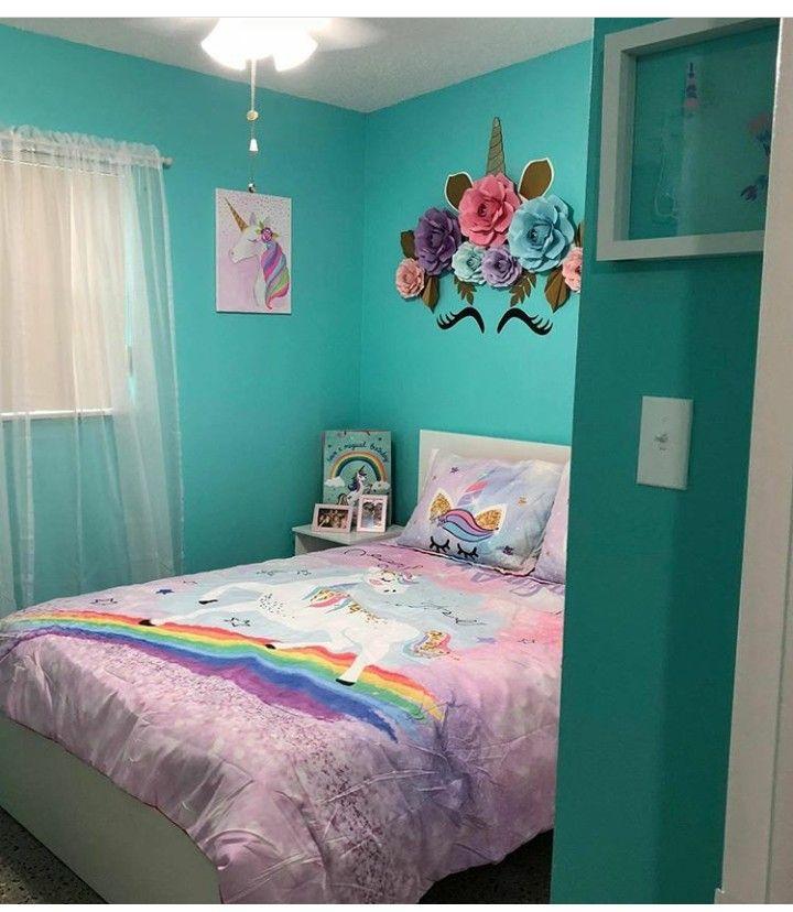 girls unicorn bedroom  unicorn theme  little girls room