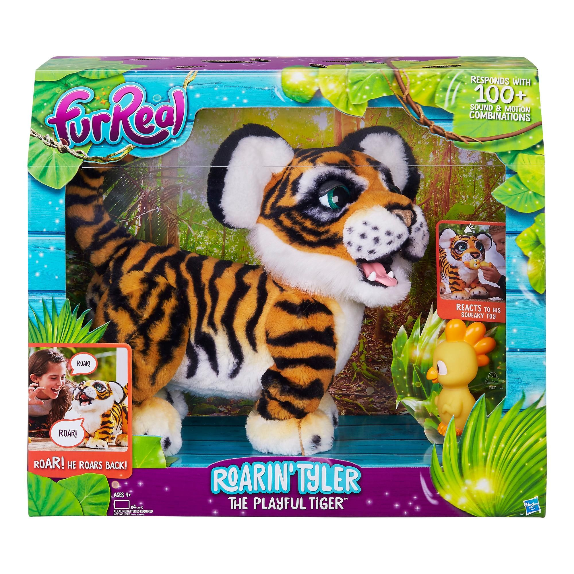 Amazon Com Furreal Roarin Tyler The Playful Tiger Toys Games Fur Real Friends Little Live Pets Interactive Toys