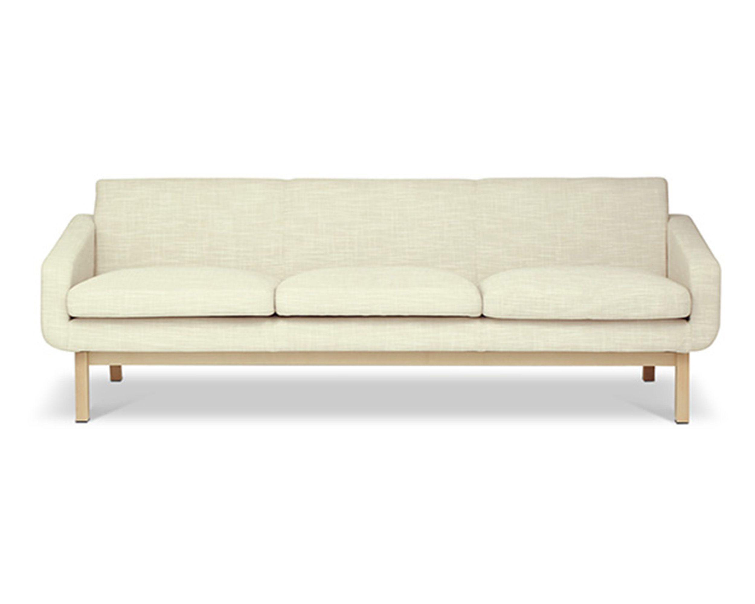 The Bern Scandinavian Inspired 3 Seat Sofa Natural Oak Legs