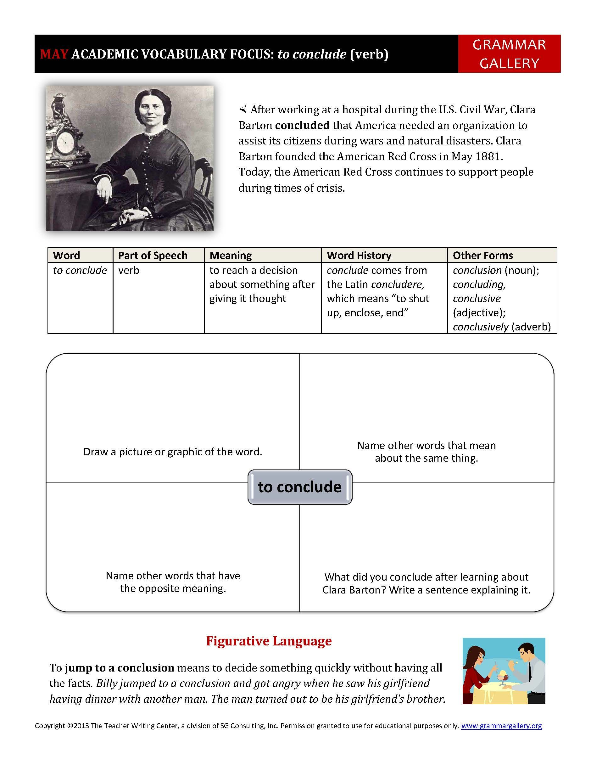 worksheet Academic Vocabulary Worksheets a worksheet to help middle school and high students develop their academic vocabulary mays