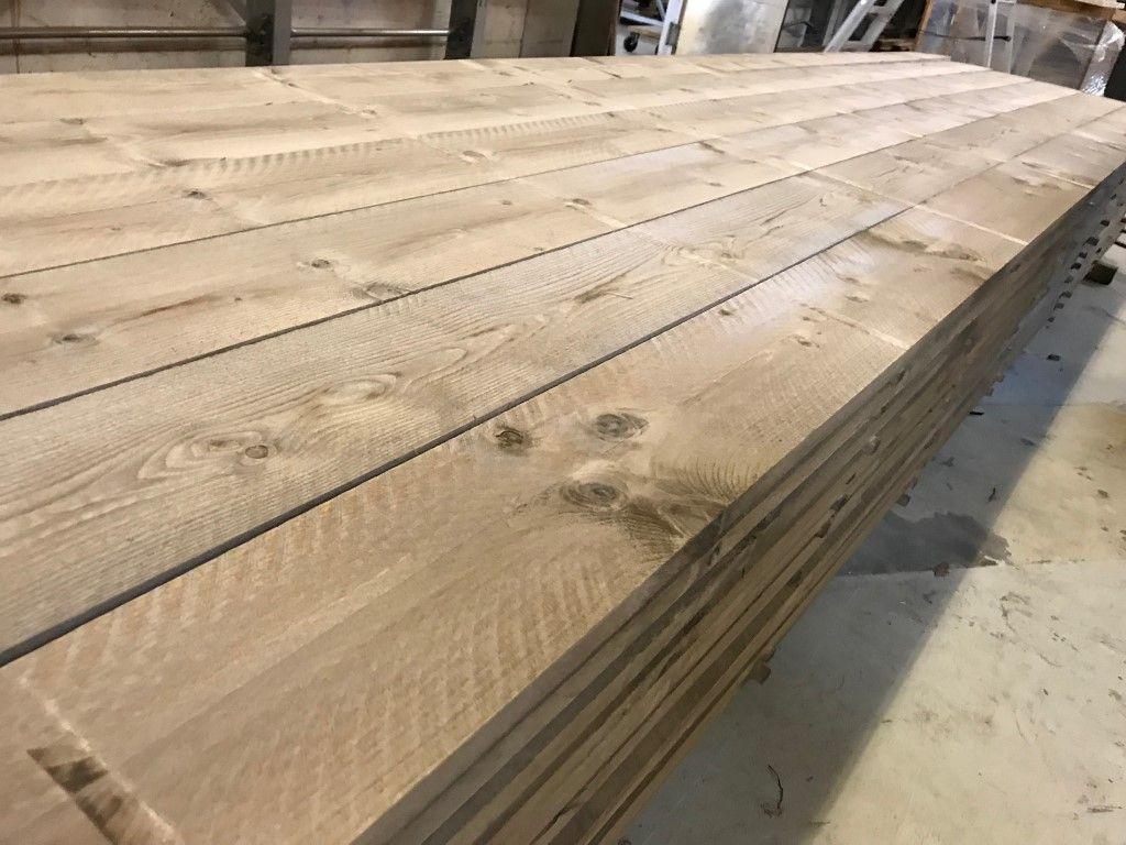 Oud Gemaakte Ruwe Steigerplanken Tafelbladen Plank Groot