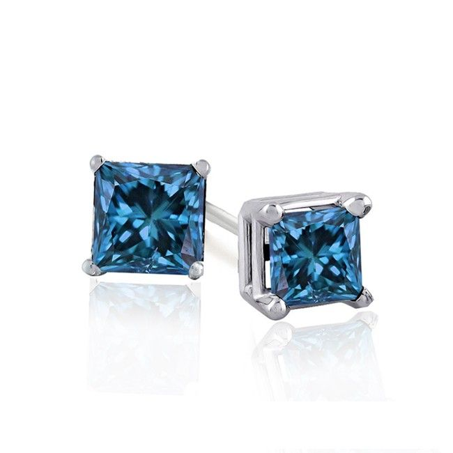 1 2ct Blue Diamond Earrings 99 Free S H