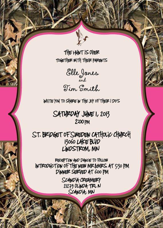 max 4 wedding invitations - Redneck Wedding Invitations