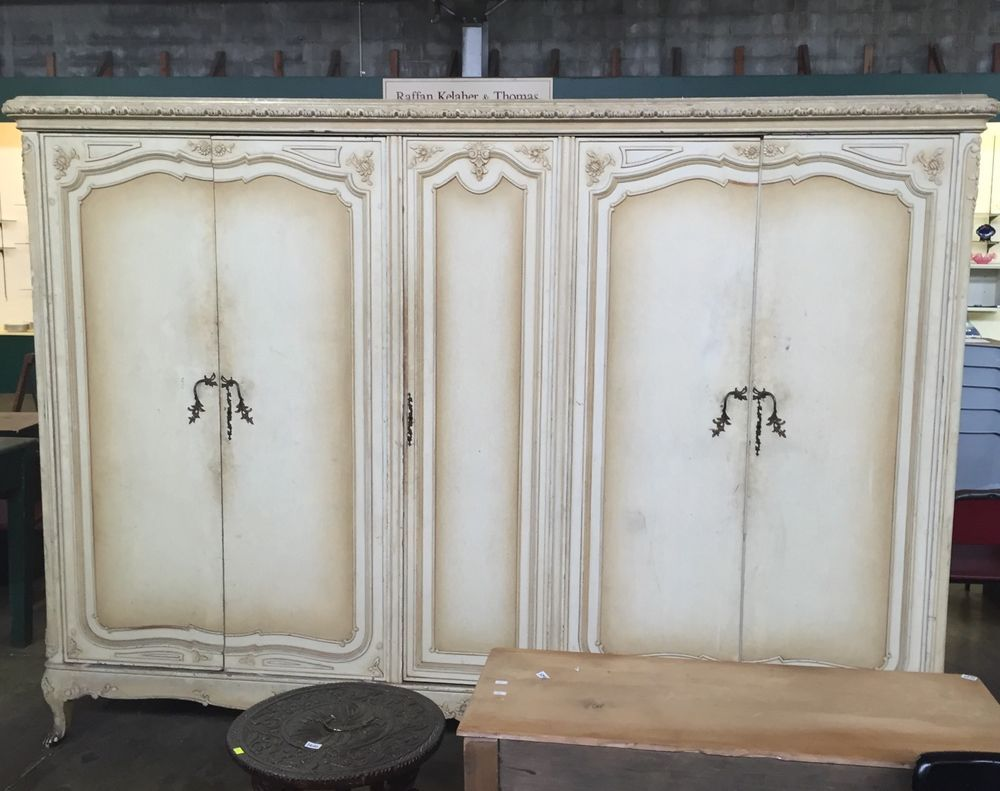 French Style Vintage Armoire Wardrobe Cabinet
