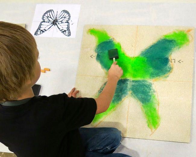 Gorgeous Ceiling Chalk Art Butterflies from Teach Junkie A Chalked Ceiling Event - Teach Junkie