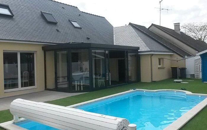 extension de maison toiture ardoise salle manger bonchamps les laval 53 veranda. Black Bedroom Furniture Sets. Home Design Ideas