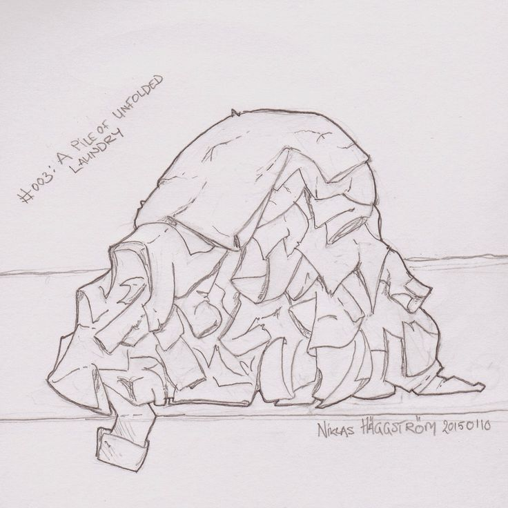 Draw An Unfolded Pile Of Laundry Google Search Laundry Art Sketch Book Drawing Challenge