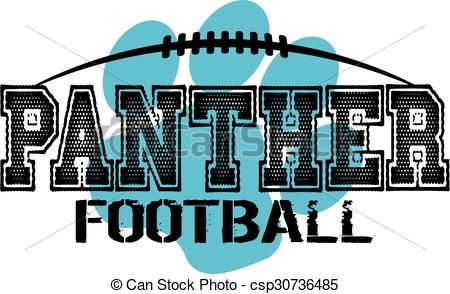 Line Drawing Vector Graphics : Vector panther football stock illustration royalty free