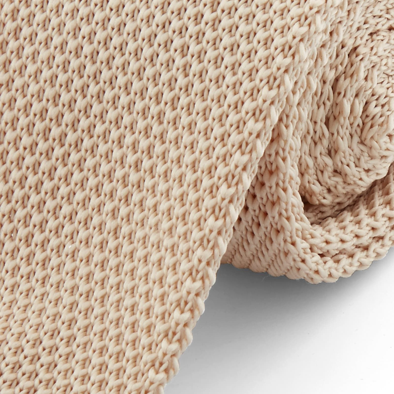 Photo of Beige Knitted Tie | Tailor Toki | 365 day return policy