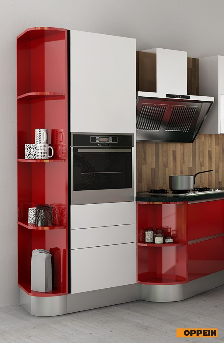 Best Modern High Gloss Kitchen Cabinet In Red Lacquer Kitchen 400 x 300