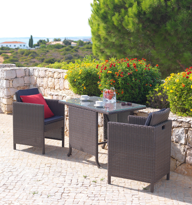 Rattan Gartenmöbel für Zweisamkeit auf Balkon oder