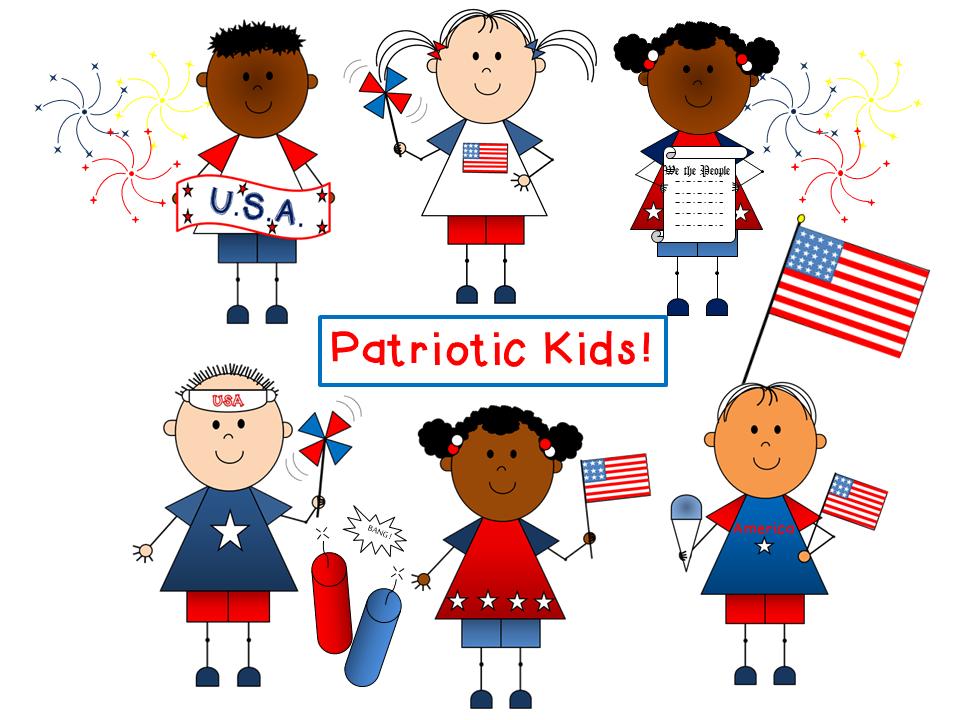 Patriotic Kids Clip Art {by Busy Bee Clip Art} | Best of ...