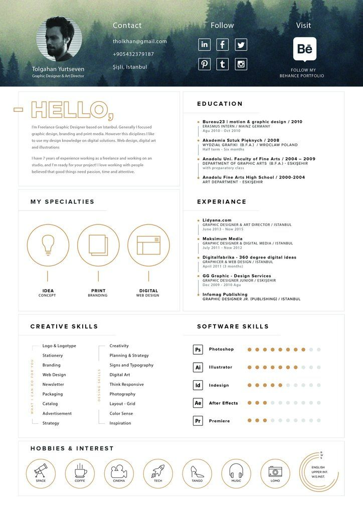 Cv Resume Tolgahan Yurtseven  Entretiengo Modern Resume Template