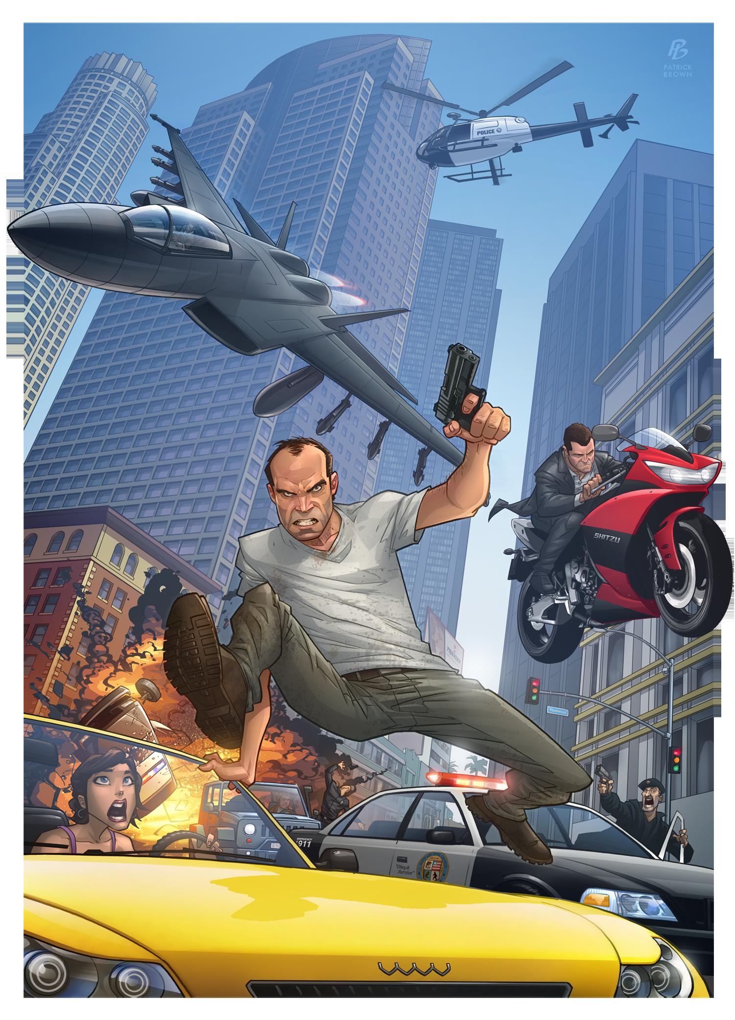 d79f4315cdde15 Patrick Brown Grand Theft Auto V Fan Art