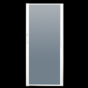 SHUB White 36w (max) x 57h--shower screen for RV | RV'ing