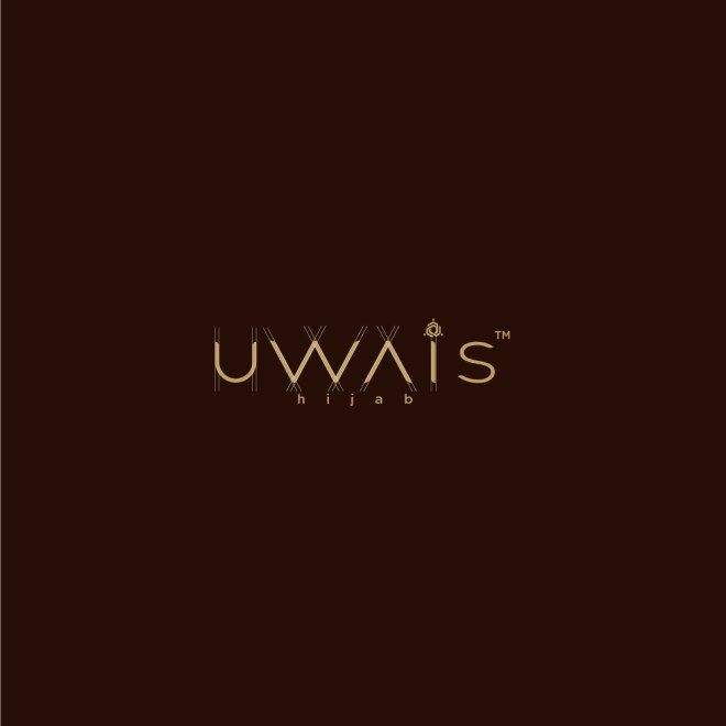 Logo Type Uwais Hijab With Grid