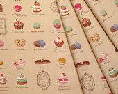 Yuwa Fabric Macaron and Sweets