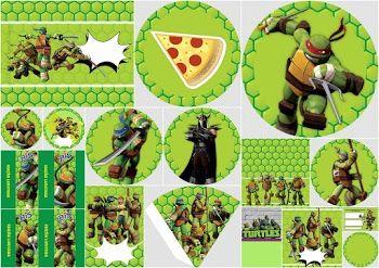 Ninja Turtles Free Printable Party Kit Festa Tartarugas Ninjas