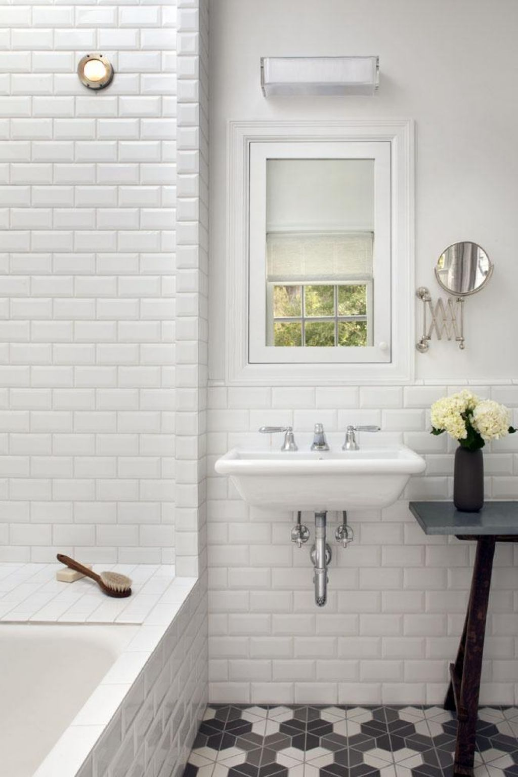 Nice Tile Bathroom Backsplash In Make Unique Bathroom With Subway ...