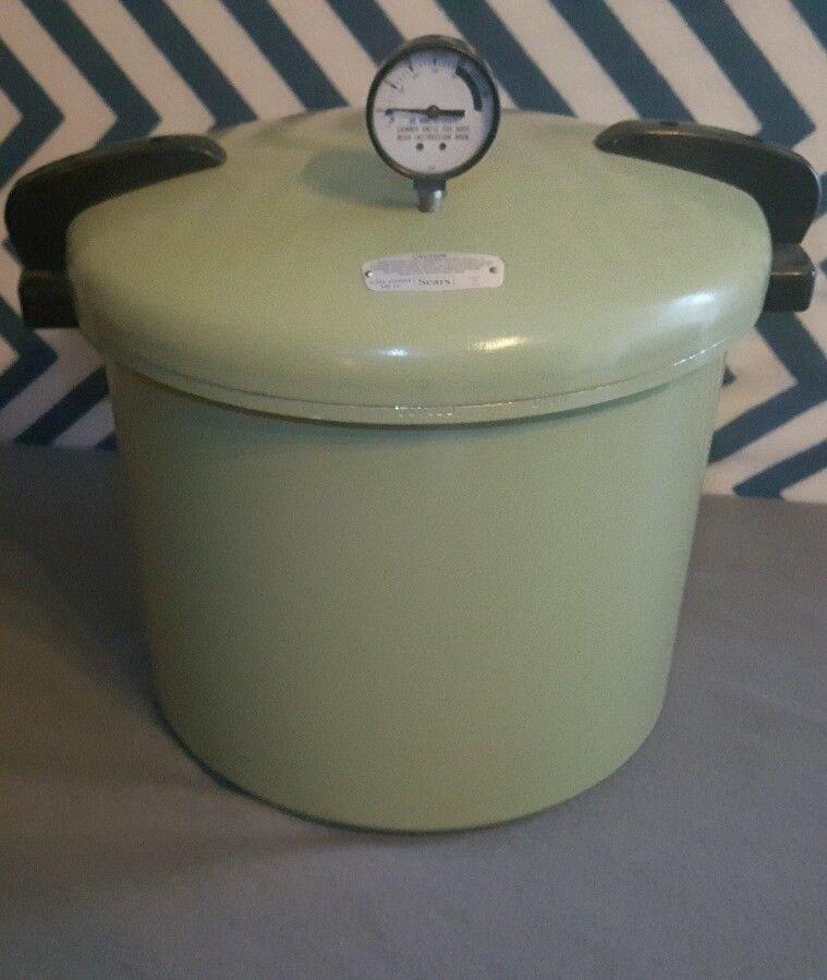Very Nice Vintage Sears Pressure Cooker Canner Vintage Avocado 22 Quart Sears Stovetop Pressure Cooker Compost Bin Sears
