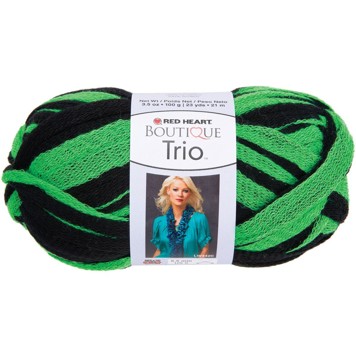 Red Heart® Boutique Trio™ Yarn Go Green   Products   Pinterest
