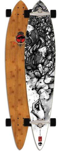 Arbor Timeless Bamboo Complete Pintail Longboard Skateboard $169.95 at Action Board Sports absboards.com