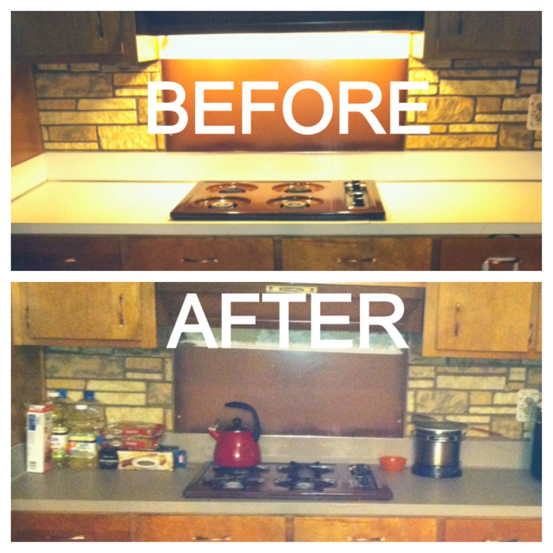 DIY Faux Granite Countertops Using Contact Paper... Contact Paper Can Be  Found At