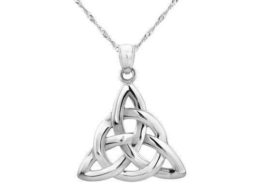 Celtic trinity knot pendant necklace in 14k white gold with chain celtic trinity knot pendant necklace in 14k white gold with chain aloadofball Images