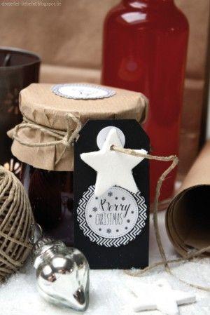 Schöne Schildchen als Geschenkdeko zu Weihnachten Noch mehr - geschenke aus der küche weihnachten