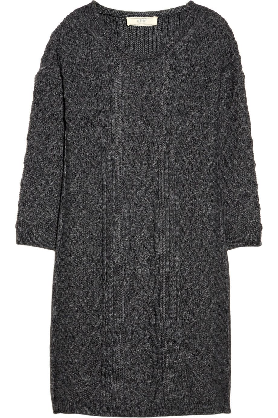 Vanessa Bruno Athé   Cable-knit sweater dress   NET-A-PORTER.COM   Knitting    Pinterest   Stricken 05f517272e