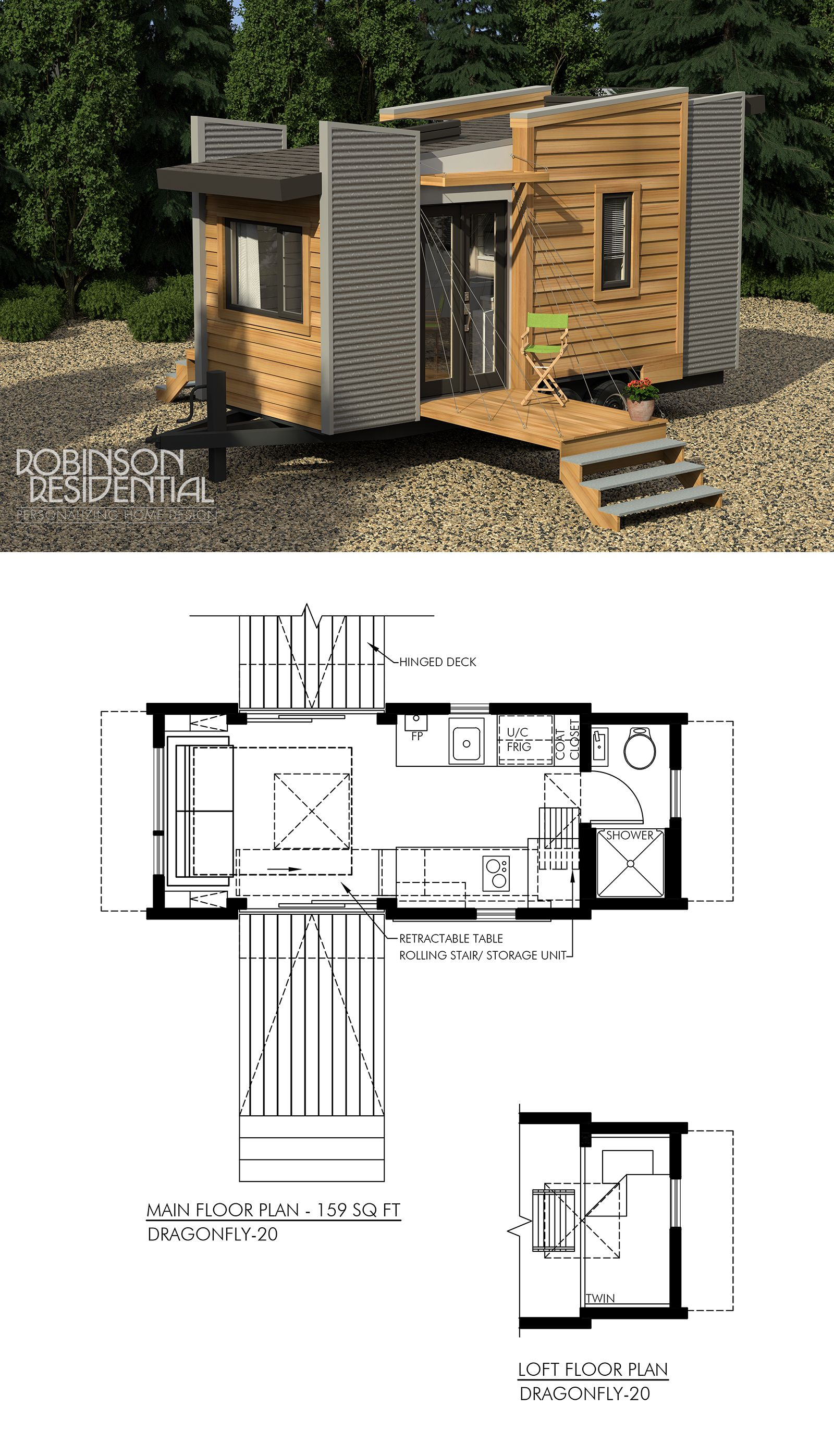 Contemporary Dragonfly-20 | The Geek in Me | Tiny house plans, Small