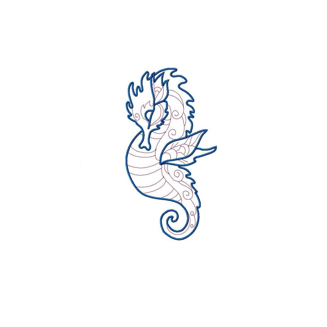 8 inches heights 7 7 Sizes 4.5 4 Seahorse Sketch Embroidery Design 5.5 5 6