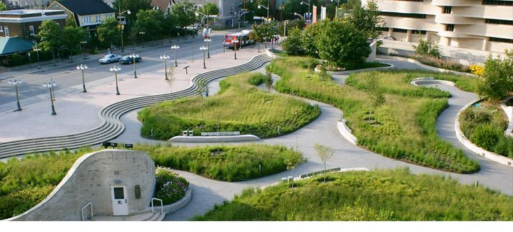 Public space landscape design google search corporate for Urban garden design ideas