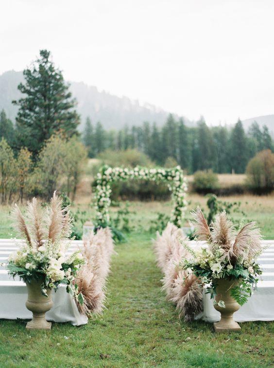 Hochzeitstrend: 30 Boho Pampas Grass Hochzeitsideen   – Wedding Arches