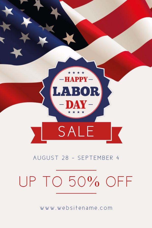 Labor Day Sale Promotional Poster Template  Retail Flyer Templates