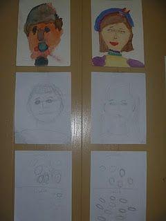 Self portrait art lesson