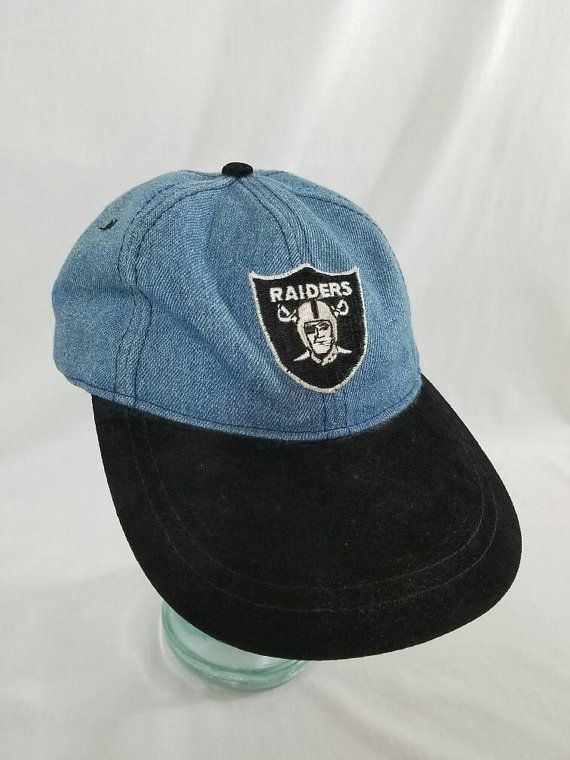 7b71ec7a19d Oakland Raiders Denim Strapback Dad Hat Suede Brim NFL Football Bad Boys  Eazy-E NWA Straight Outta Compton