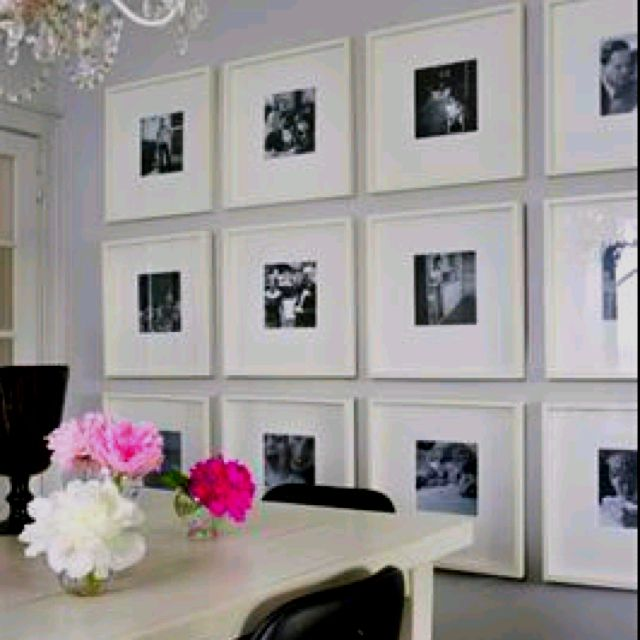 Another fabulous wall grouping! Site says those are ikea frames ...