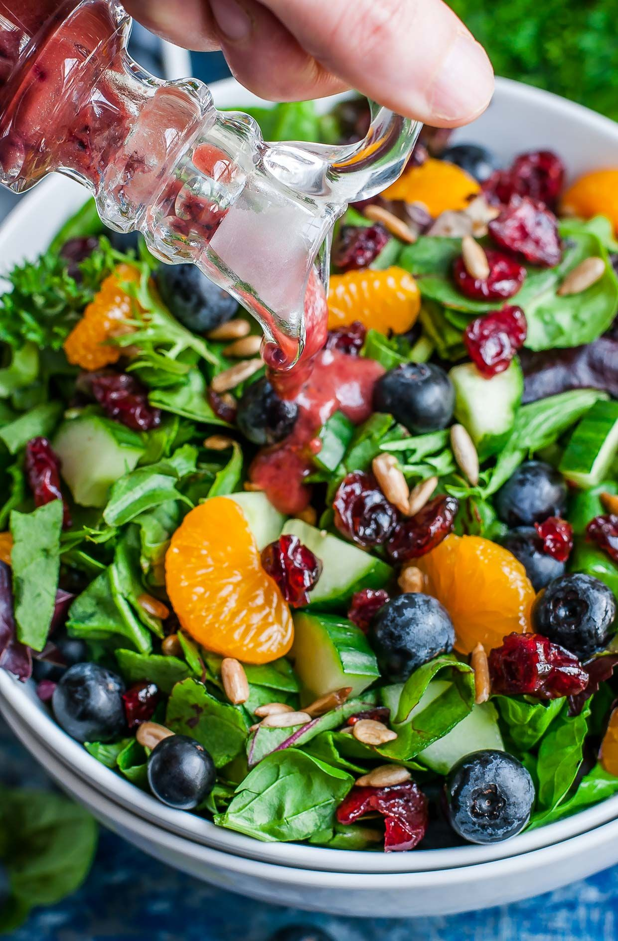 Balsamic Blueberry Salad Dressing Recipe Blueberry Salad Blueberry Salad Dressing Healthy Chicken Salad Recipe [ 1888 x 1240 Pixel ]