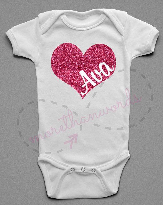 Valentines Day Shirt Valentines Onesie Name By Morethanwordsny The