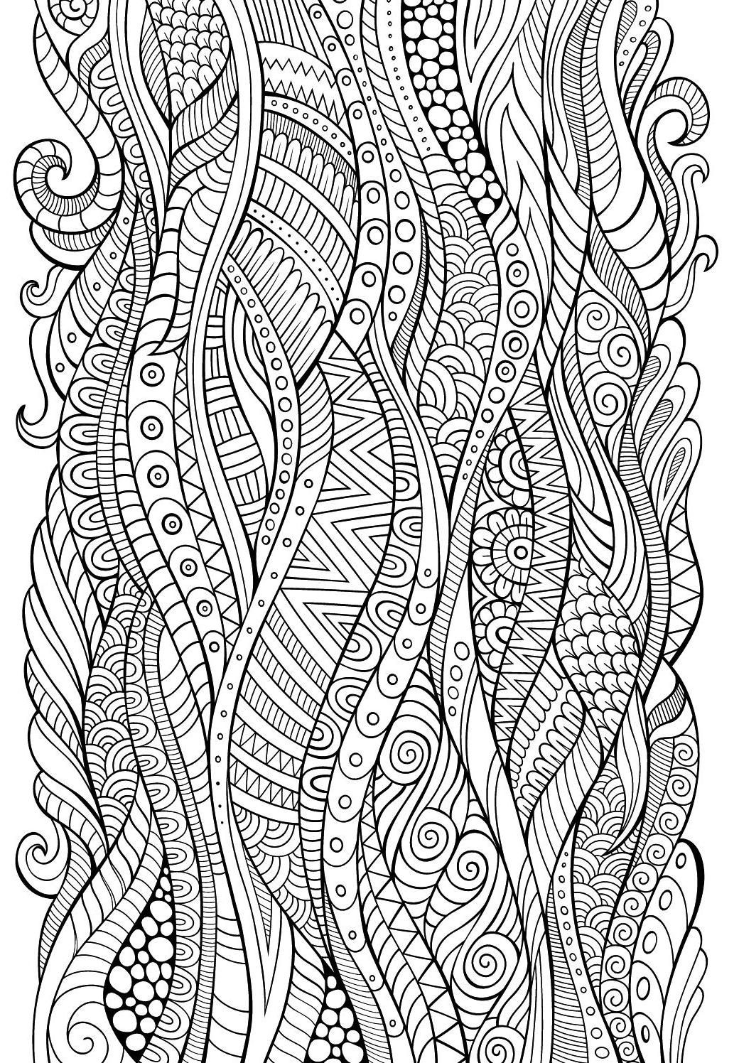 Colour Calm 05 (Sampler) in 2020 | Zentangle drawings ...