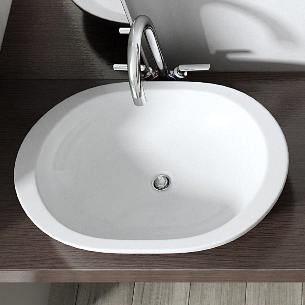 Design Einbauwaschbecken Brussel5056 5057 Aus Keramik Ovale Form