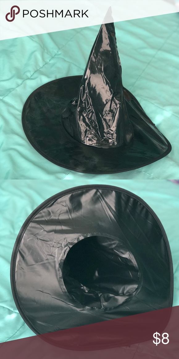 Black Halloween Costume Witch Hat