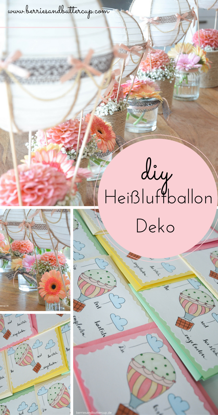 Diy Up Up And Away Heißluftballon Deko Und