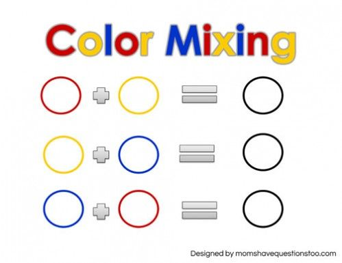Free Printable! Toddler Color Games Mixing Sheet -- Moms Have ...