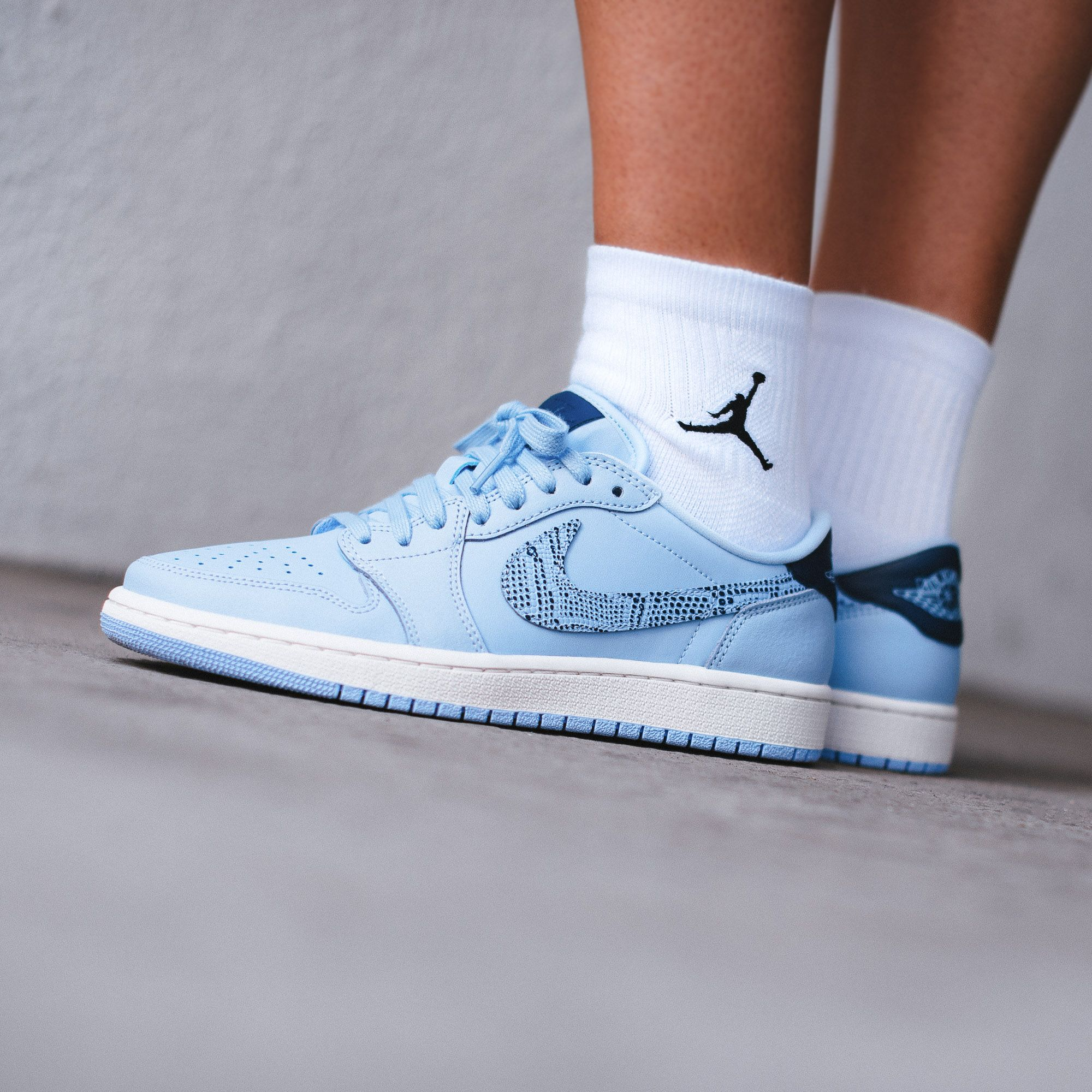 The Air Jordan 1 Low for women combines a premium upper with