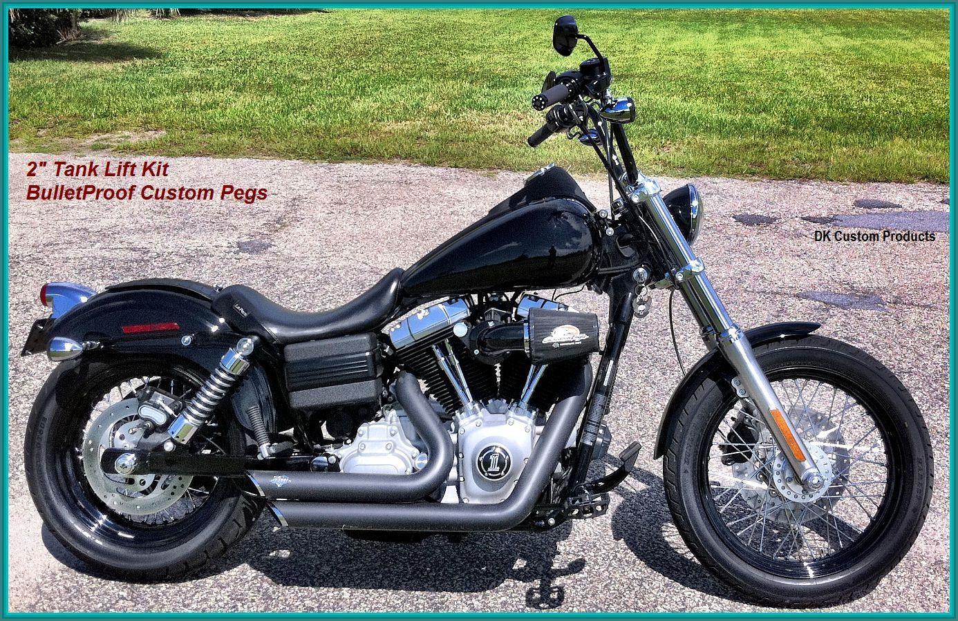 2 inch tank lift kit harley davidson motorcycle dyna glide. Black Bedroom Furniture Sets. Home Design Ideas