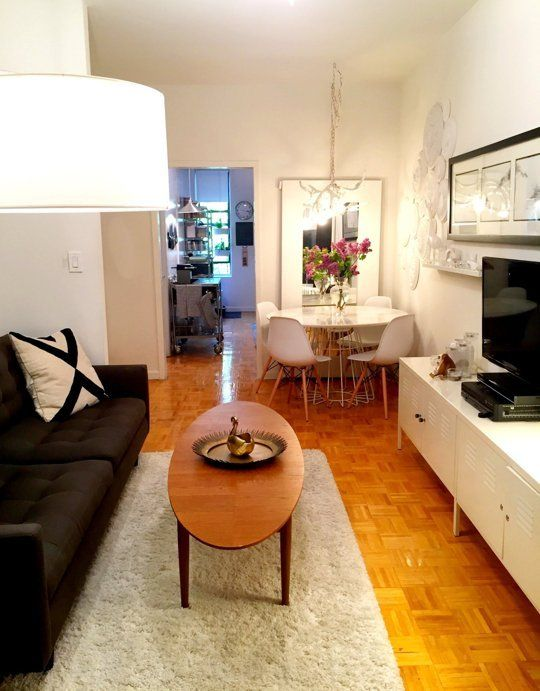 Melissa S Railroad Apartment Small Cool Apartment Therapy Small Spaces Small Apartment Therapy Small Space Living Room