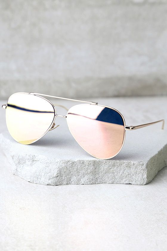b273800ba3eb5 The Perverse Toni Bologni Pink Mirrored Aviator Sunglasses are setting off  our style radar! These classic aviators get a chic update with shiny gold  ...