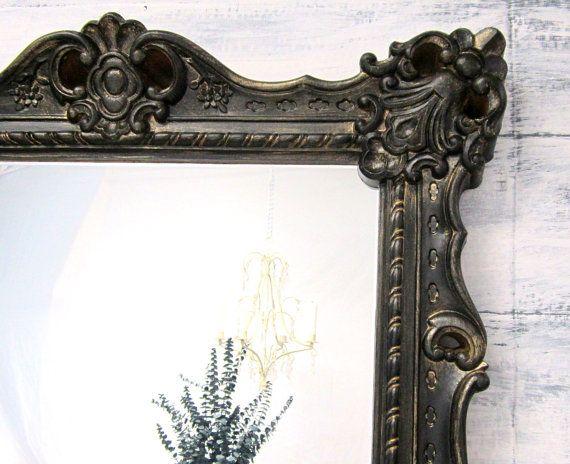 HOLLYWOOD REGENCY MIRROR For Sale Large Black by RevivedVintage, $298.00 #etsy #mirror #decor #vintage